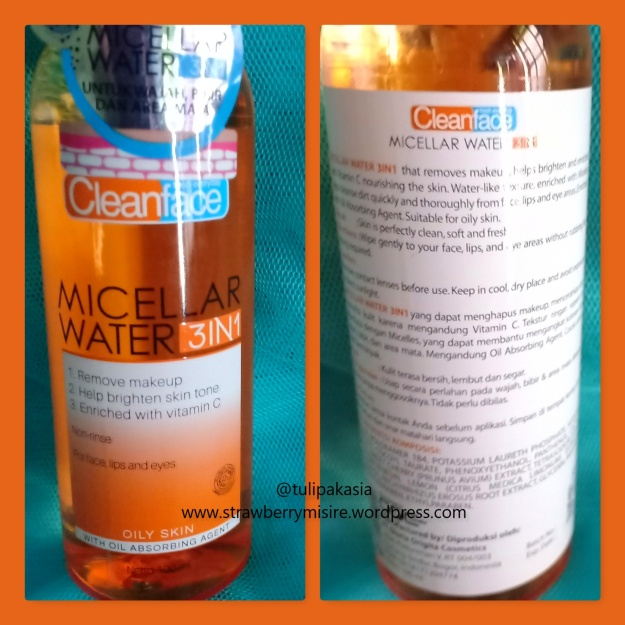 cleanface micellaroily packaging